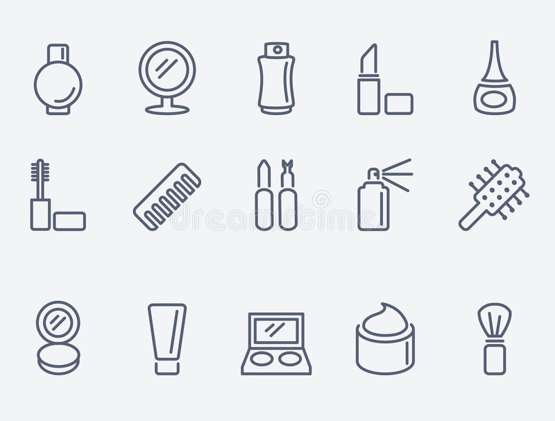 Cosmetic icons stock illustration