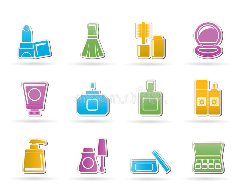 Download Cosmetic Industry And Beauty Icons Stock Vector - Illustration of icons, button: 20952683