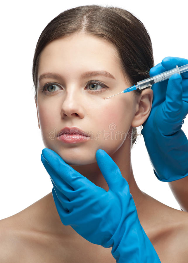 Download Cosmetic Injection Of Botox Stock Image - Image of needle, close: 21262323