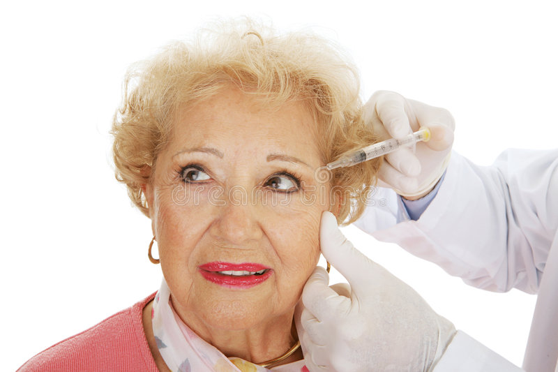 Cosmetic Injection - Eyes royalty free stock photos