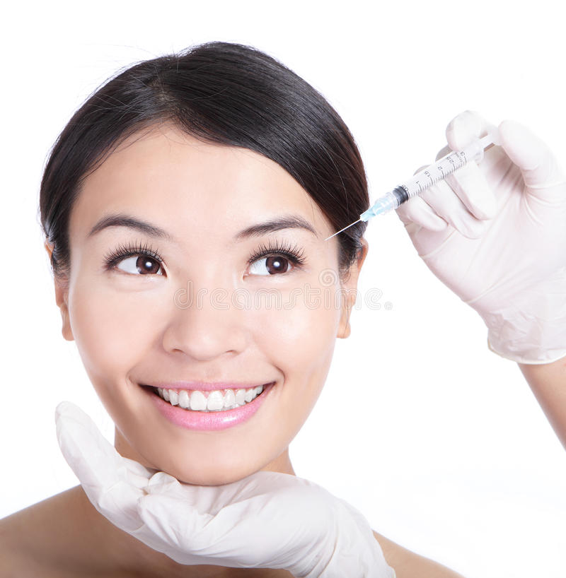 Download Cosmetic Injection In Woman Face Stock Image - Image: 24568071