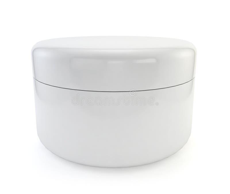 Cosmetic jar. 3d image isolated on white background royalty free illustration