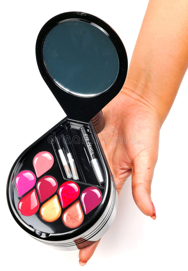 Download Cosmetic kit stock image. Image of color, paint, hand - 9297433