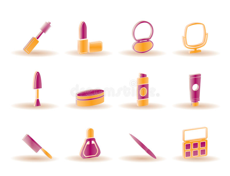 Cosmetic and make up icons