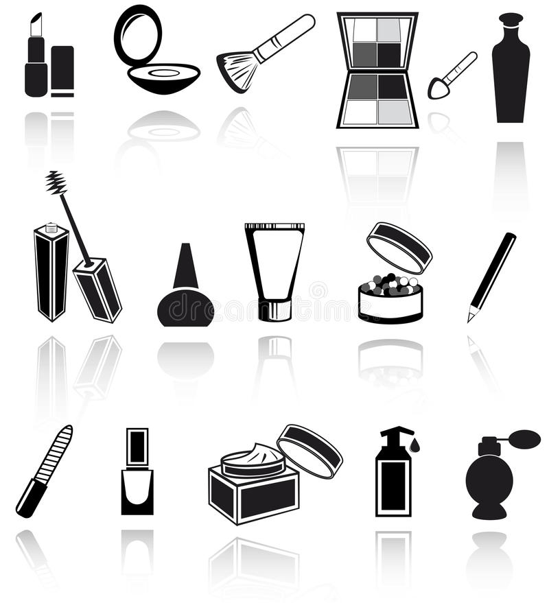 Cosmetic, make up icons. Vector EPS10 royalty free illustration
