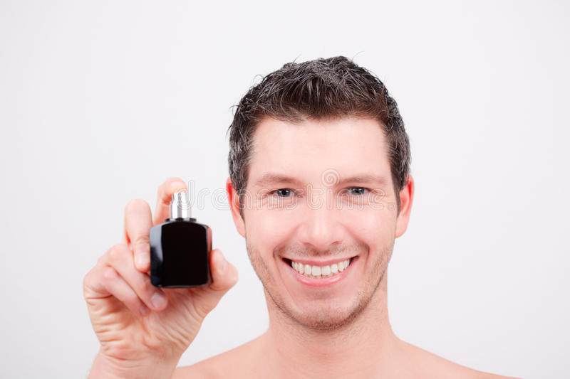 Cosmetic man stock photos