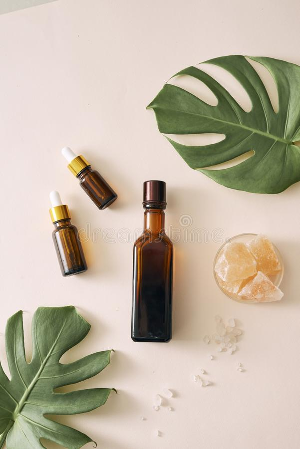 Cosmetic nature skincare and essential oil aromatherapy .organic natural science beauty product. Cosmetic nature skincare and essential oil aromatherapy royalty free stock photo
