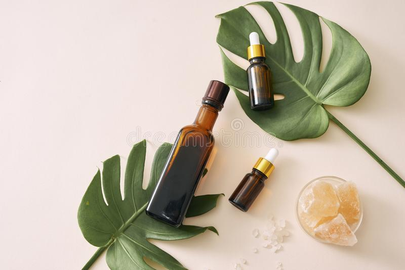 Cosmetic nature skincare and essential oil aromatherapy .organic natural science beauty product. Cosmetic nature skincare and essential oil aromatherapy royalty free stock photos