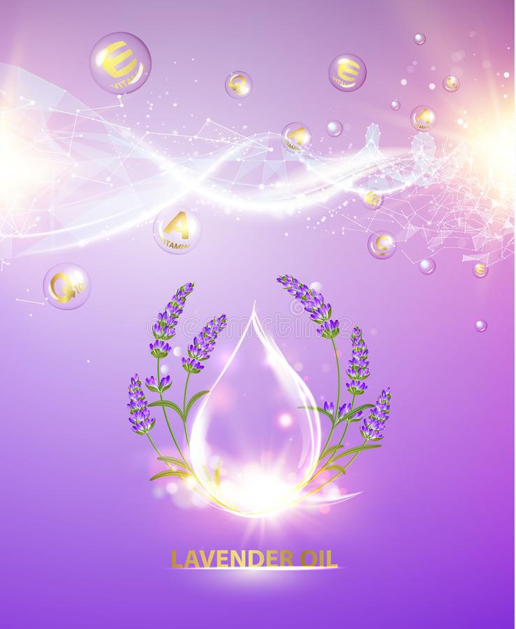 Cosmetic oil lotion. vector illustration