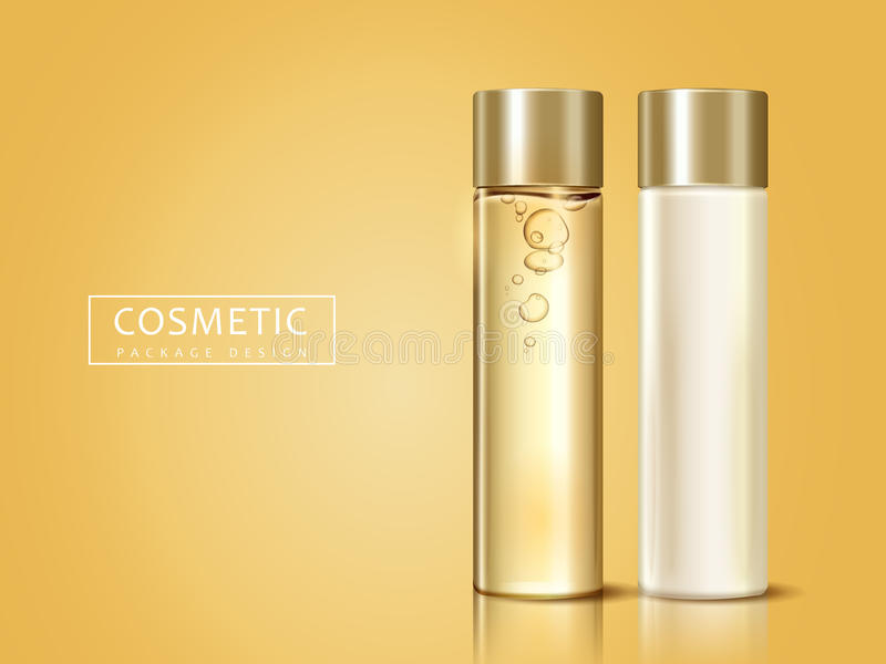 Cosmetic package design royalty free illustration