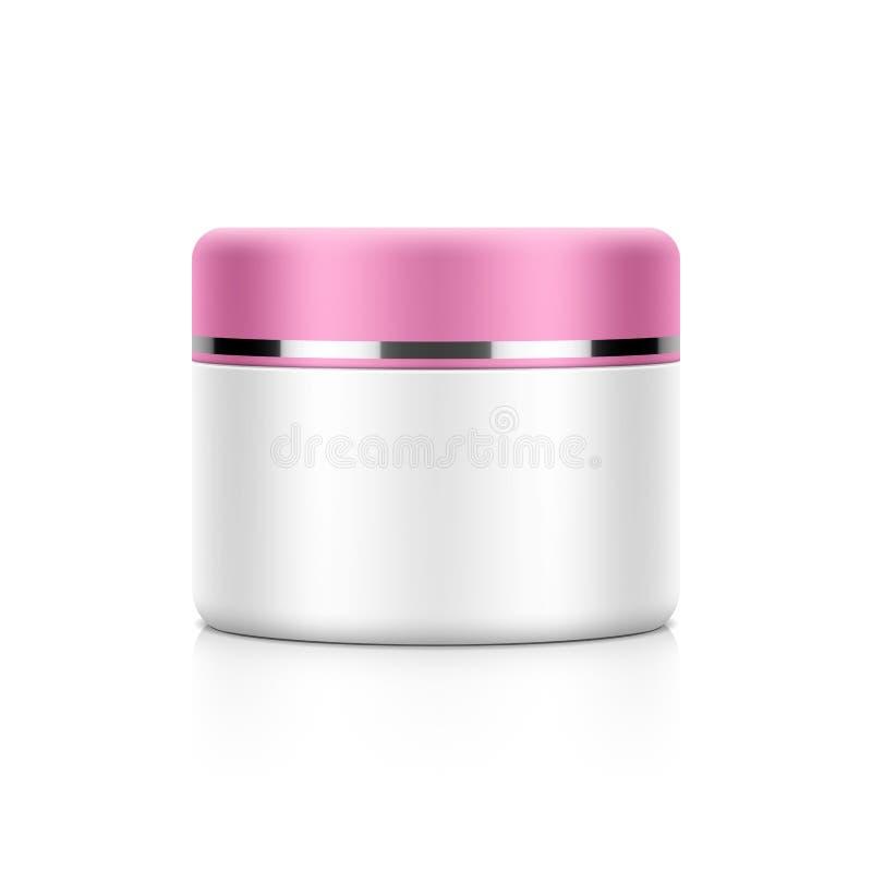 Cosmetic packaging, cream, powder or gel vector illustration