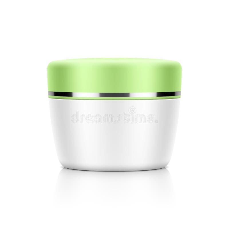 Cosmetic packaging, cream, powder or gel jar stock illustration