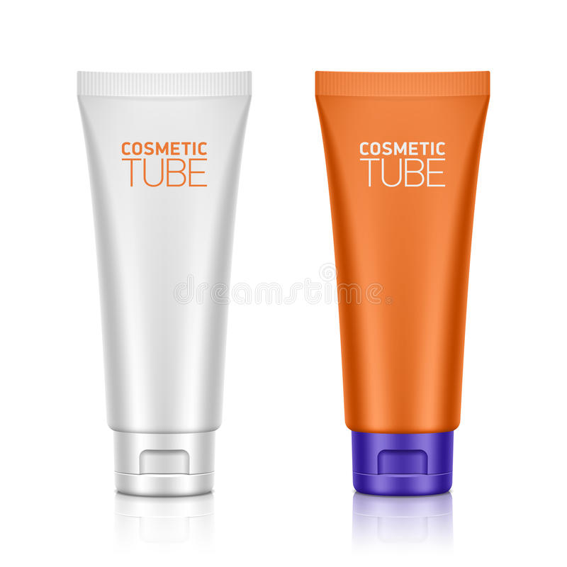 Cosmetic packaging, plastic tube stock illustration