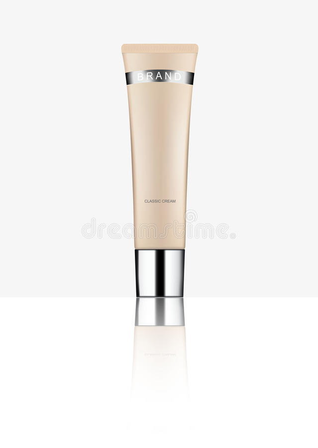 Cosmetic packaging, plastic tube. Vector. royalty free illustration