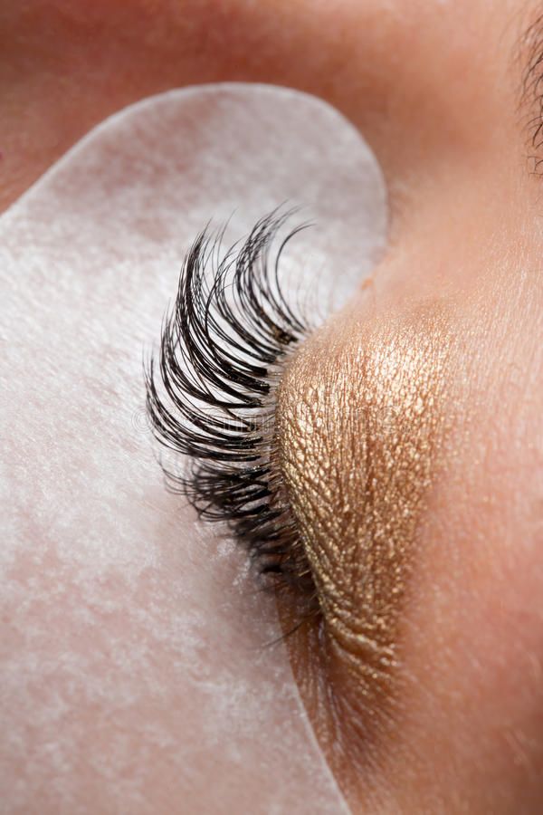 Cosmetic patch under the eye stock photography