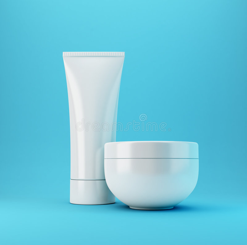 Cosmetic Products 2 - Blue stock photography