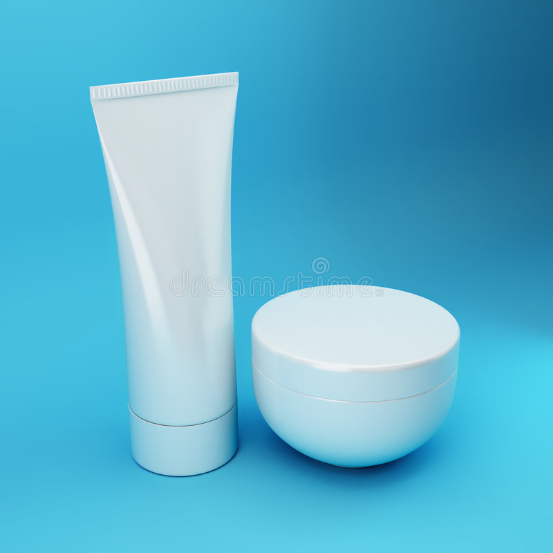 Cosmetic Products 5 - Blue royalty free stock image
