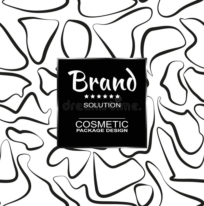For cosmetic products packaging. Seamless patterns stylish graphic texture for your design. Beautiful background. Vector illustration vector illustration