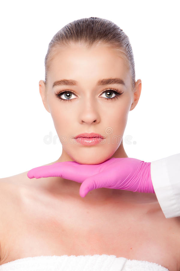 Cosmetic skincare spa beauty treatment stock image