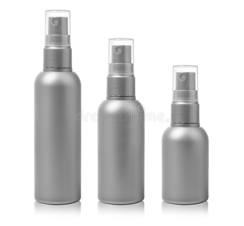 Cosmetic spray bottles royalty free stock images