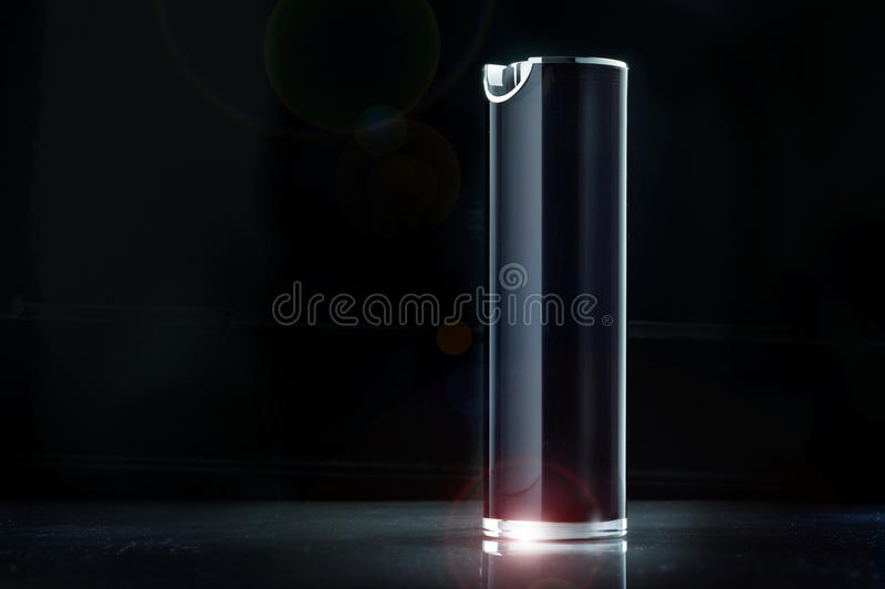 Cosmetic spray. Luxury cosmetic spray isolated on black royalty free stock photo