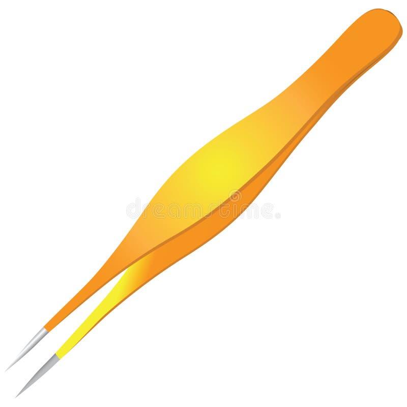 Cosmetic tweezers ingrown hair. Cosmetic tweezers for ingrown hair vector illustration