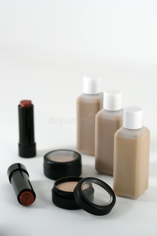 cosmeticen gör upp produkter professional kvalitet royaltyfri foto