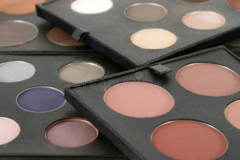 cosmeticen gör upp produkter professional kvalitet arkivfoto