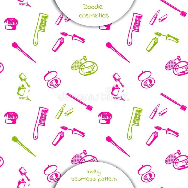 Cosmetici decorativi messi illustrazione di stock