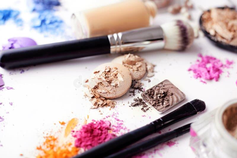 Cosmetici di trucco immagine stock
