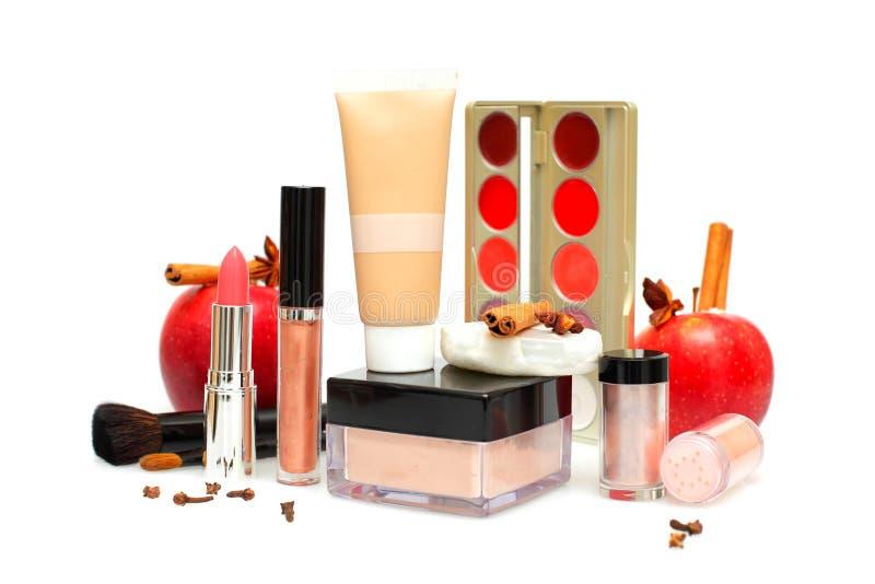 Cosmetici ed accessori femminili, trucco fotografia stock