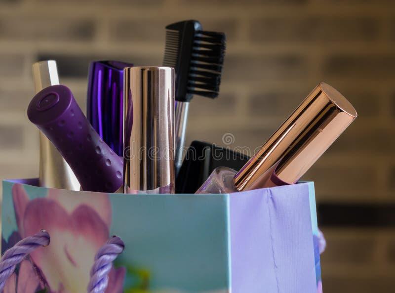 Cosmetici messi fotografie stock libere da diritti