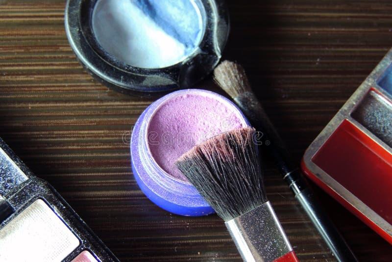 Cosmetici Ombretto fotografia stock libera da diritti