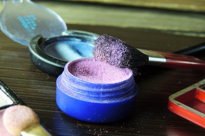Cosmetici Ombretto fotografie stock libere da diritti