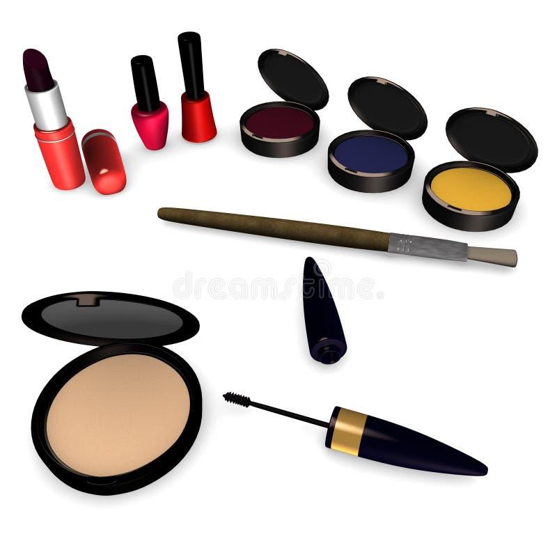 Cosmetics. 3d render of cosmetics set