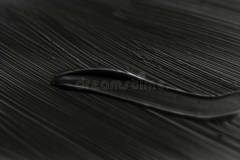 Cosmetics abstract texture background, black acrylic paint brush stroke, textured cream product as make-up backdrop for luxury. Art, branding and makeup concept stock images