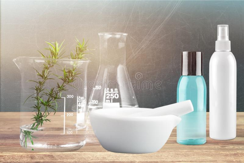 Cosmetics. Alternative aromatherapy beauty blank botany bottle royalty free stock photography