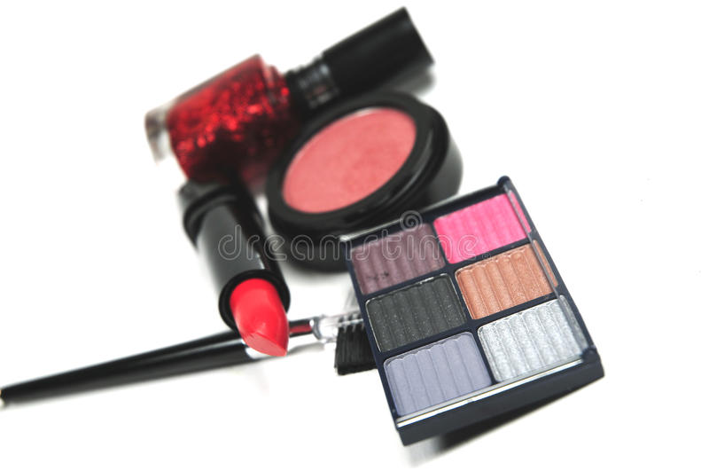 Cosmetics assorted stock images