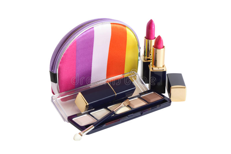 Download Cosmetics Bag On White stock image. Image of object, glamour - 20687871