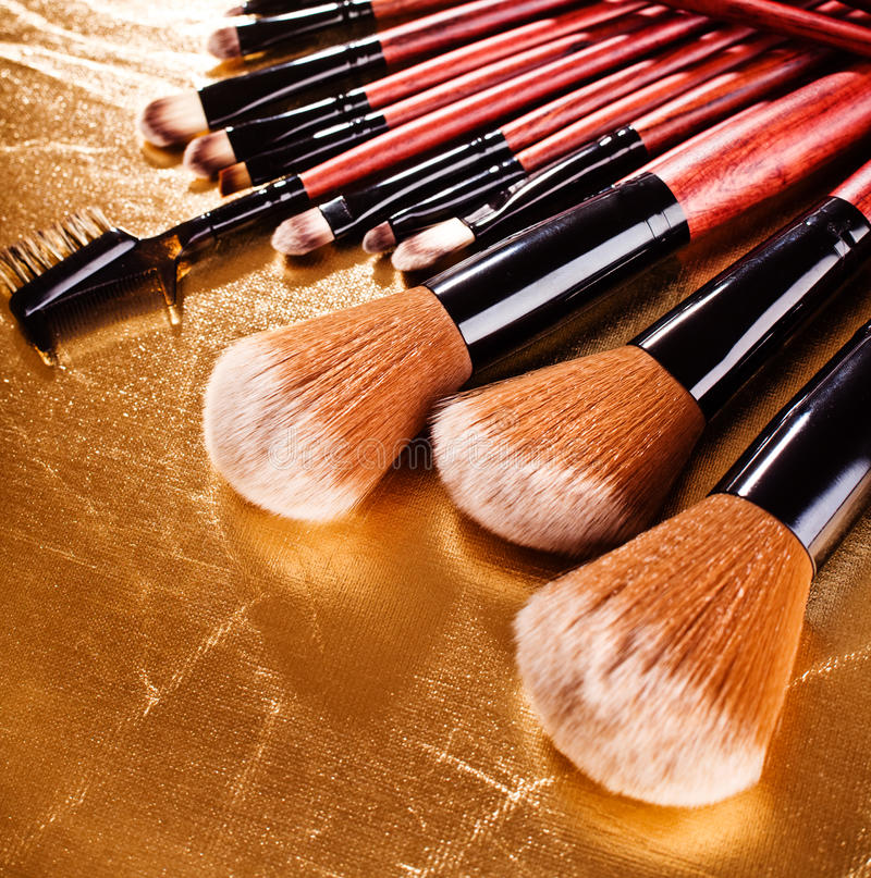 Cosmetics brushes royalty free stock images