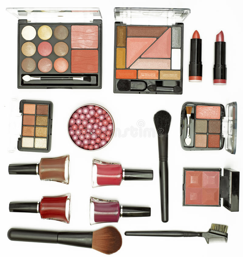 Free Cosmetics Brushes And Accessories Stock Photos - 13209253