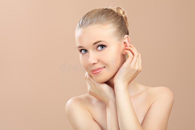 Cosmetics care stock photo