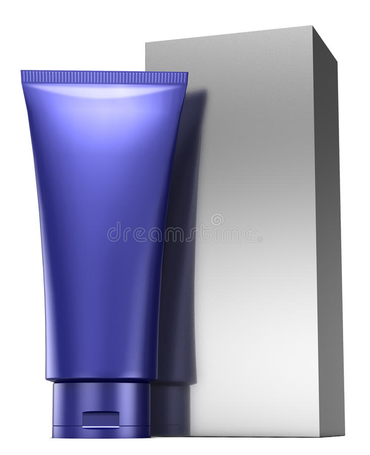 Cosmetics containers. On white background vector illustration