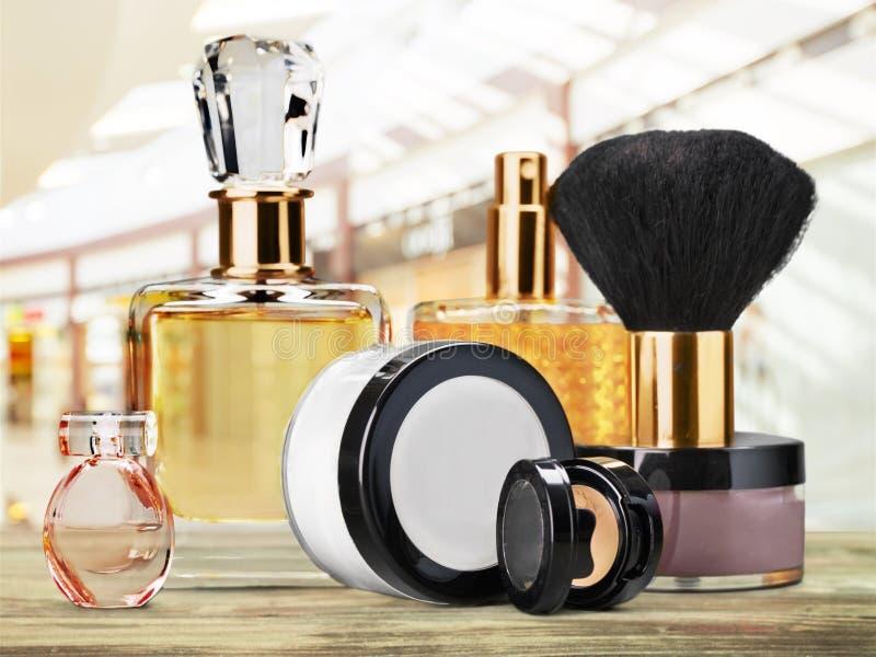 Cosmetics. Make-up perfume beauty personal accessory fashion make-up brush stock image