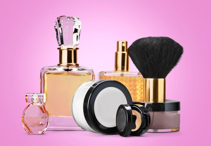 Cosmetics. Make-up perfume beauty personal accessory fashion make-up brush stock images