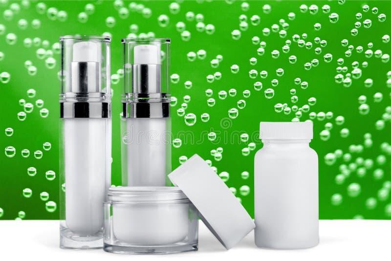 Cosmetics. Moisturizer bottle beauty beauty treatment packaging jar stock photography