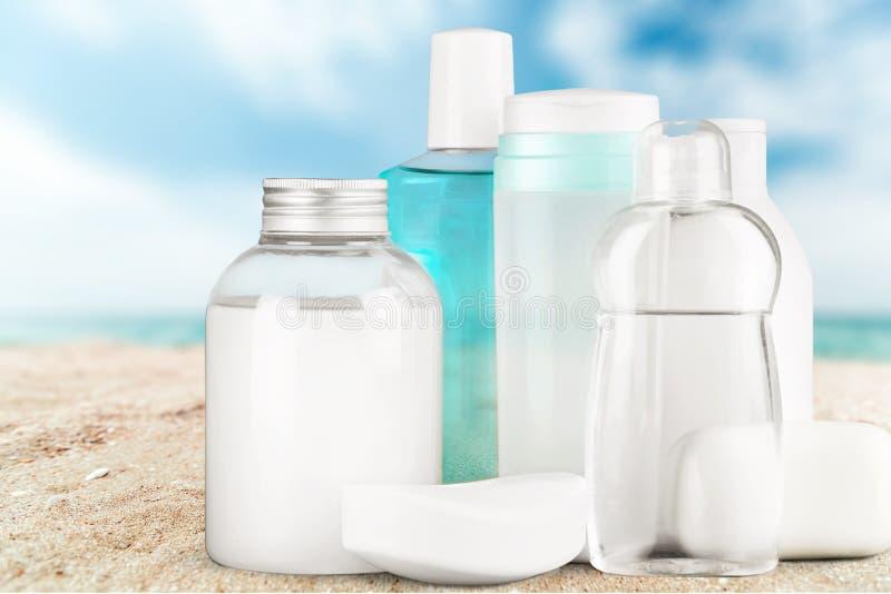 Cosmetics. Moisturizer merchandise bottle beauty treatment spa treatment beauty royalty free stock photography