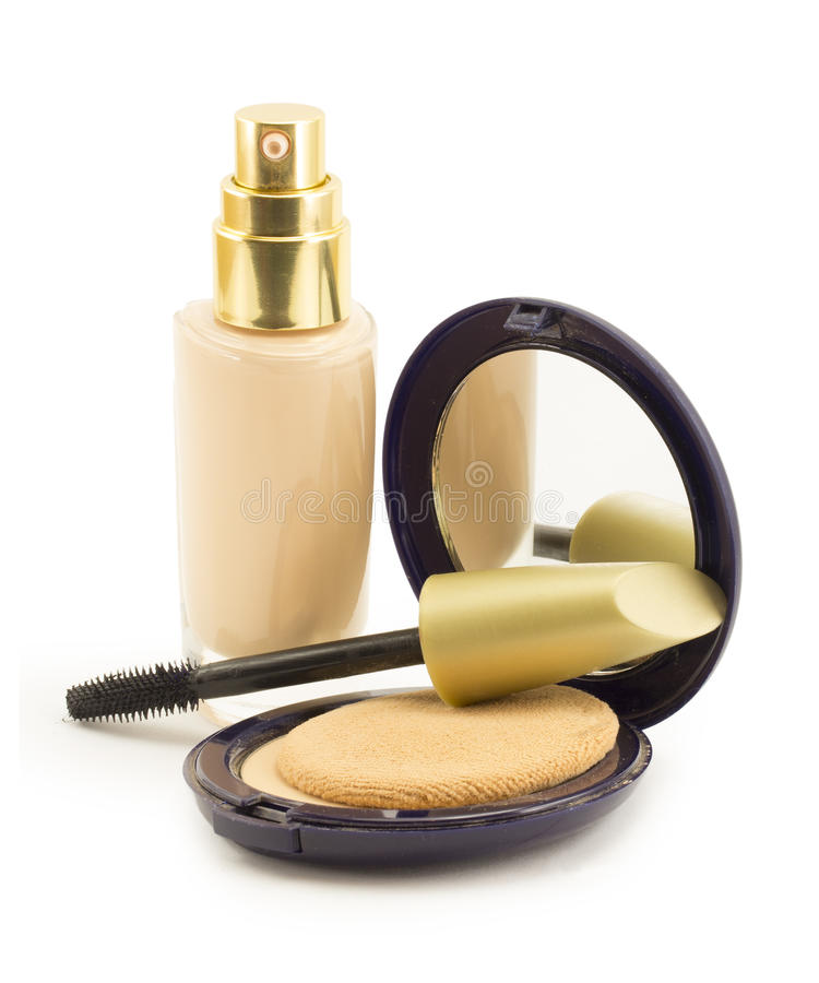 Cosmetics for face stock photo