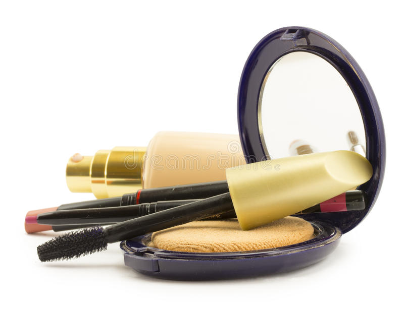 Cosmetics for face stock image
