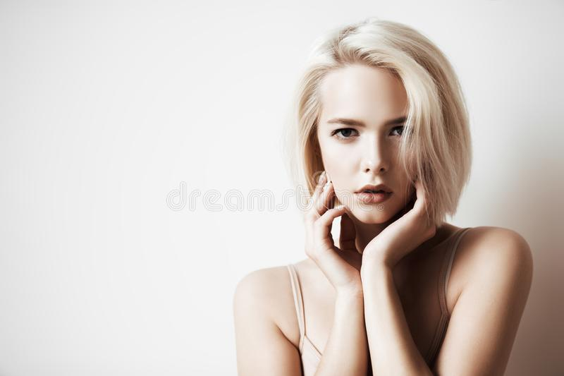 Cosmetics and hair styling stock photo